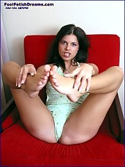 hungarian babe corena showing her feet